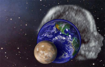 Jorda, mars, den ufødte babyen