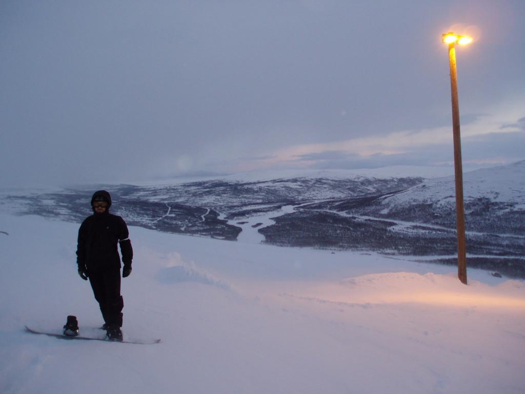 Meg på toppen av Skaidi Ski Resort. Elven i bakgrunnen