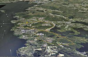 Joggeløype i Olsvik